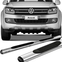 Estribo Oblongo Volkswagen Amarok Cabine Simples - Cromado