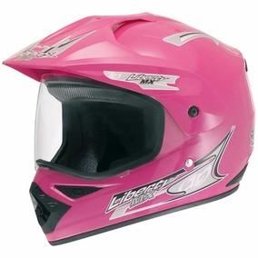 Capacete Feminino Motocross Fechado Com Viseira