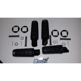 Kit (4 Peças) Pedaleira Dianteira Traseira Cbx 250 Twister