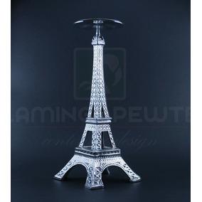 Centro De Mesa Torre Eiffel / Recuerdo Hecho En Pewter 5310