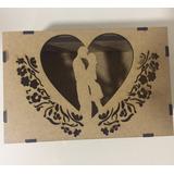 Caixa Dia Dos Namorados - Presente Amor - Casamento Mdf Crú