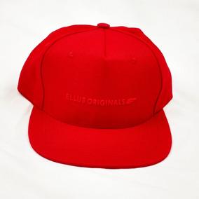 Boné Ellus Originals Aba Reta Branco Preto E Vermelho 21ce6f4916a