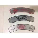 Plaqueta Motos Antigas Norton Royal Bsa Zúndapp