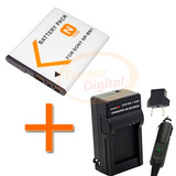 Batería Y Cargador Np-bn1 De Cámara Sony Dsc-tx7 W390 Y Más