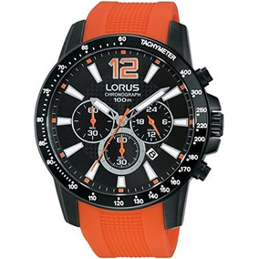 Lorus Mens Analógico Reloj Cronógrafo Con Correa De Silicon