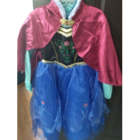 Ana Frozen Vestido Disfraz Original Disney Store Talla 7/8