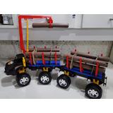 Caminhão Brinquedo Grande Florestal Guincho Munck Bitrem
