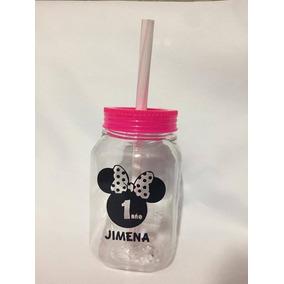 Tarros Vasos Tipo Mason Jar Plastico Con Popote