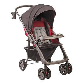 Carrinho De Bebê Hercules Rubi - Cinza Granito