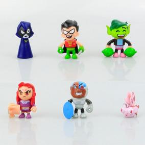 Kit Teen Titans Jovens Titãs - 6 Personagens
