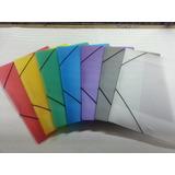 Carpeta Plástica Con Liga , Paquetes 10 Unid