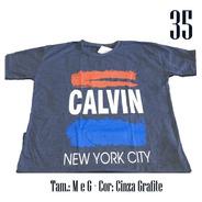 Kit 4 Camisetas Masculina Multimarcas Marca Estampada Blusa