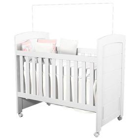 Berço Americano Cléo Branco Acetinado - Carolina Baby