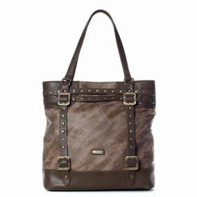 Saveiro Cartera Tote Taupe Xl Extra Large