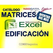 Edificacion Base Datos Excel Mayo 2017 Analisis Matrices