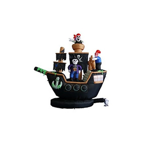 Bzb Mercancías 7 Pies. Barco Pirata Decoración