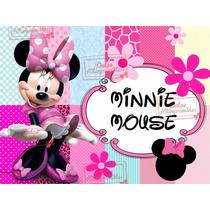 Kit Imprimible Minnie Mouse Rosa Candybar Cotillon