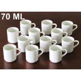 Jogo 12 Canequinha Café Branca Lisa Xícara Porcelana 70 Ml