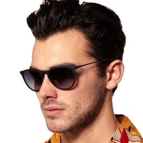 Oculos Masculino Feminino Preto Fosco Redondo Emborrachado