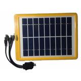 Cargador Panel Solar Original Real 7w 9v 780mah Carga Rapida