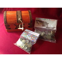 Cofre Numismatico 152 Monedas De Mexico Y El Mundo Cedro