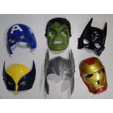 Aki Kit 06 Mascaras Thor Hulk Ferro America Volverine Batman
