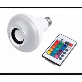 Lampada Led Bluetooth Com Som E Controle Remoto