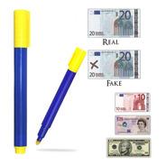 Lápiz Detector Billetes Falsos Marcador Euros Dolares Pesos, Mania-electronic