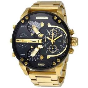 378ca22e114 Relógio Gxp Diesel Banhado Ouro Original Dz7333 57mm Dourado