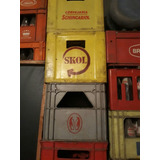 Caixa De Cerveja Vazia E Com Casco 600 Ml.