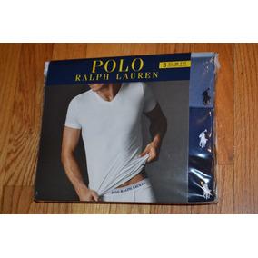 Kit Com 3 Camisetas Gola V Polo Ralph Lauren - Tamanho M
