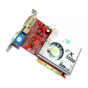 Placa De Video Agp Nvidia Fx5500 256 Mb 128bits Frete Grátis
