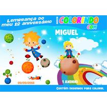 Pequeno Principe Livro De Colorir Personalizado Lembrança