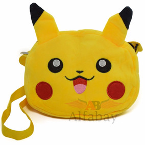 Bolsa Pokémon Pikachu Bordada Plush Com Alça Ajustável!