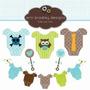 Kit Imprimible Baby Shower Nene 6 Imagenes Clipart