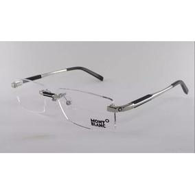 Armação Óculos Grau De Grau Sem Aro Mont Blanc Clássica