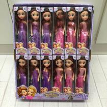 Caixa 24 Sofia Bonecas Princesas Disney Atacado Festa