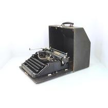 Maquina De Escrever Alemã Antiga Perfeita Voss Com Maleta
