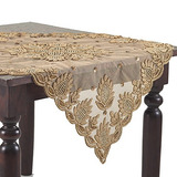 Occasion Gallery Gold Color Hand Beaded Design Sheer Topper,