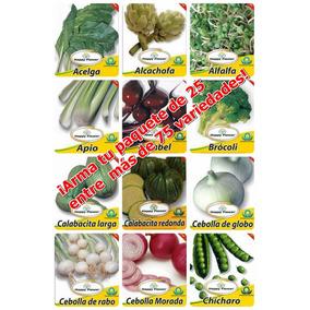Semillas Para Siembra (paquete 25 Sobres) Flete Gratis