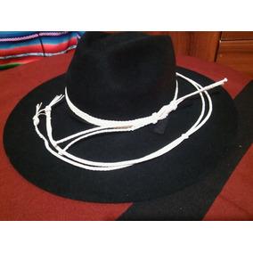 Sombrero De Paño, Gaucho En Punta, Con Toquilla Y Barbijo