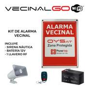 Kit Alarma Vecinal Comunitaria Vecinalgo Conexión Wifi