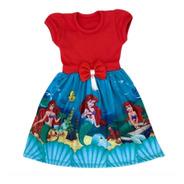 Vestido Ariel Pequena Sereia Roupa/fantasia