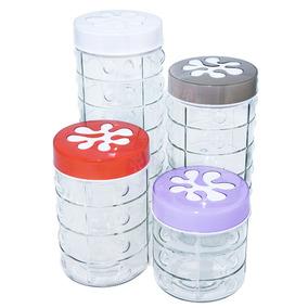 Conjunto Com 3 Potes Em Vidro Para Mantimentos Marca  Mart - Cozinha ... 42d3f8a638