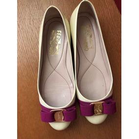 Zapatos De Dama Flat Ferragamo Talla 2.5