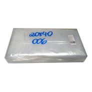 Saco Plástico Transparente 20x40 Esp.0,06 205 Un C/ 1kg Pe