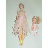 Bonecas Barbie E Kelly Dançarinas 1990 - Roupas Originais