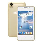 Celular Libre Dual Sim Sky P4 Cámara Fm Gtia Dorado Msc