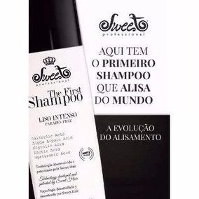 The First - 120ml - Shampo Alisante Da Sweet Hair+ Brinde