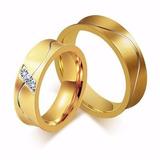 Alianças Noivado Casamento Banhada A Ouro Preço Baixo Top